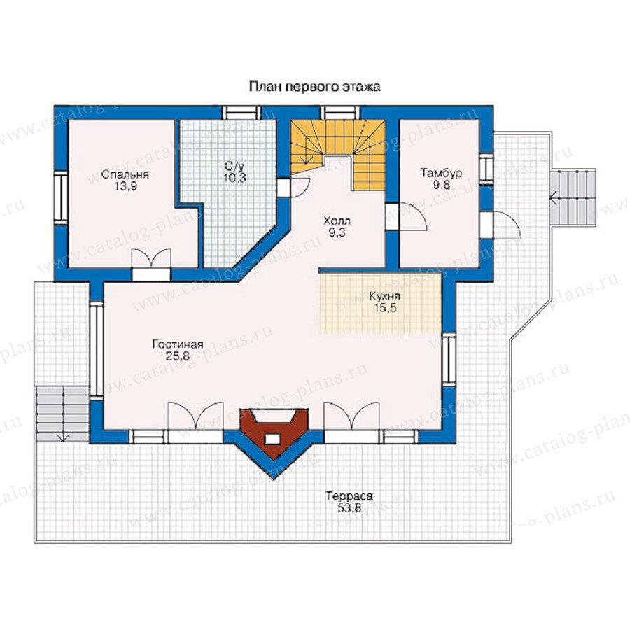 План 1-этажа проекта 10-28