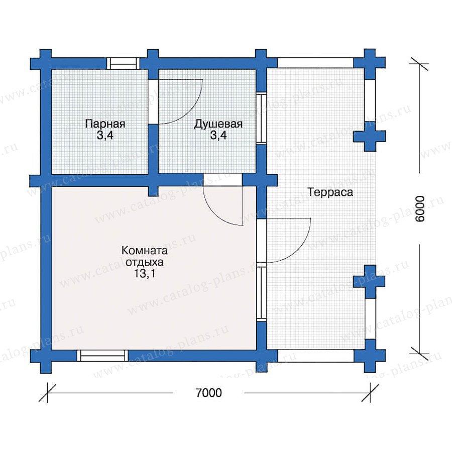 План 1-этажа проекта 10-64