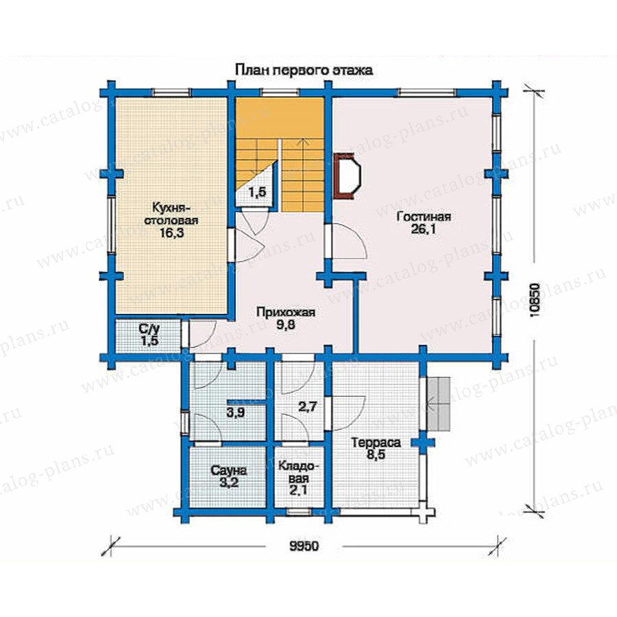 План 1-этажа проекта 10-46