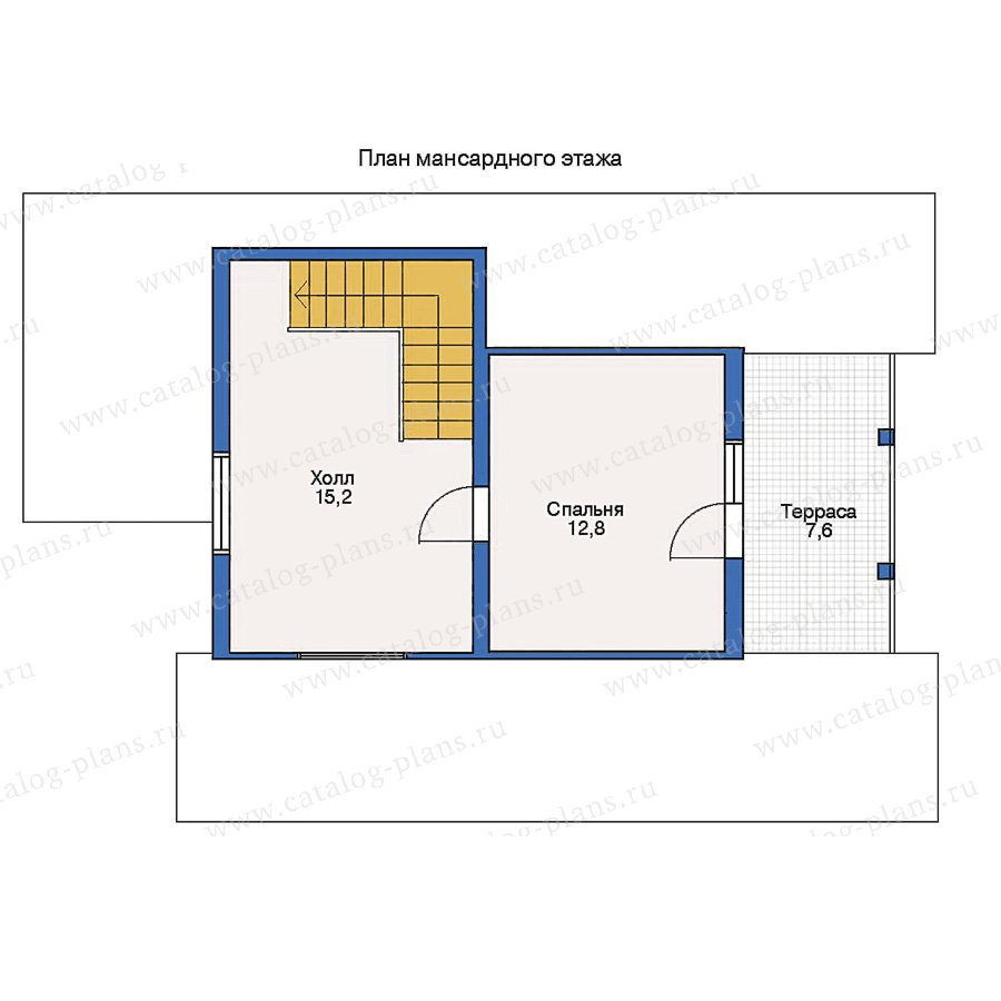 План 2-этажа проекта 10-59