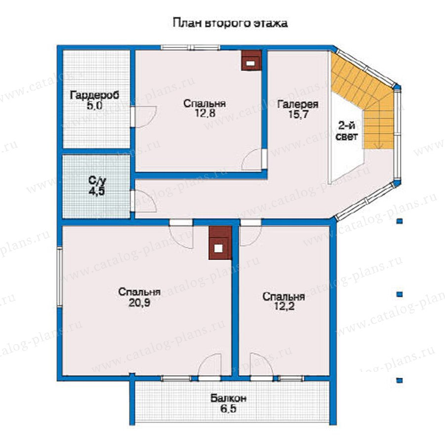 План 2-этажа проекта 59-96L