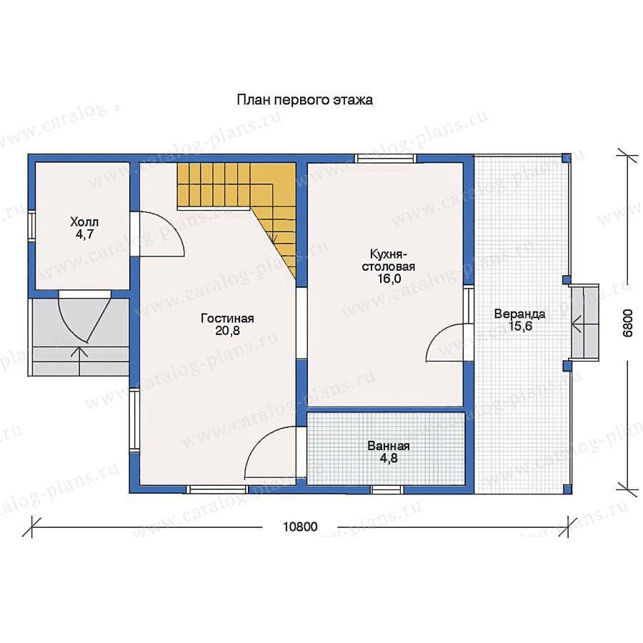 План 1-этажа проекта 10-59