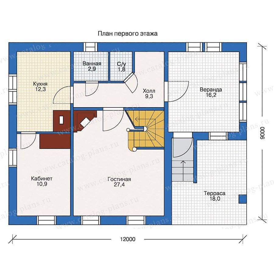 План 1-этажа проекта 10-37