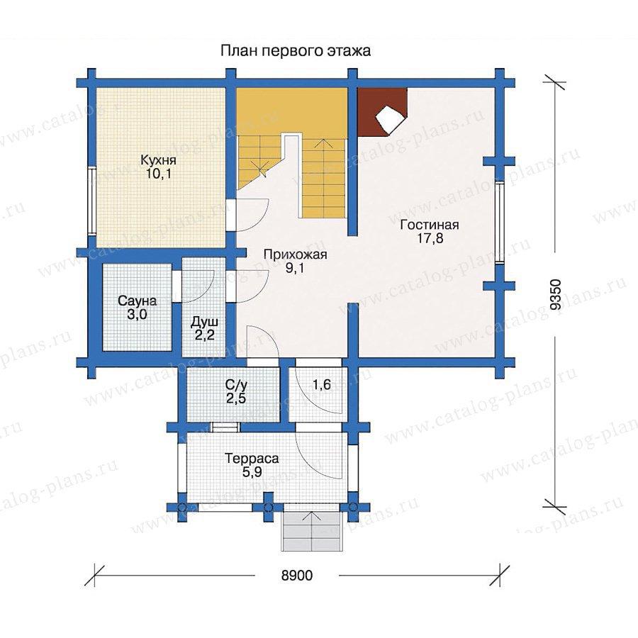 План 1-этажа проекта 10-44