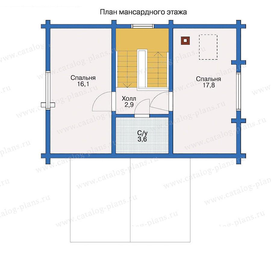 План 2-этажа проекта 10-44