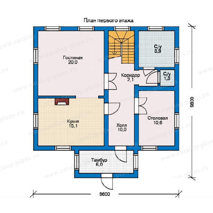 План 1-этажа проекта 10-35