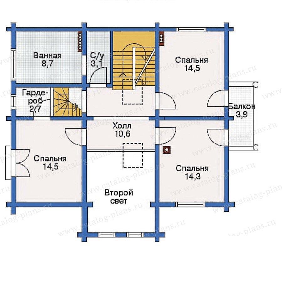 План 3-этажа проекта 10-49