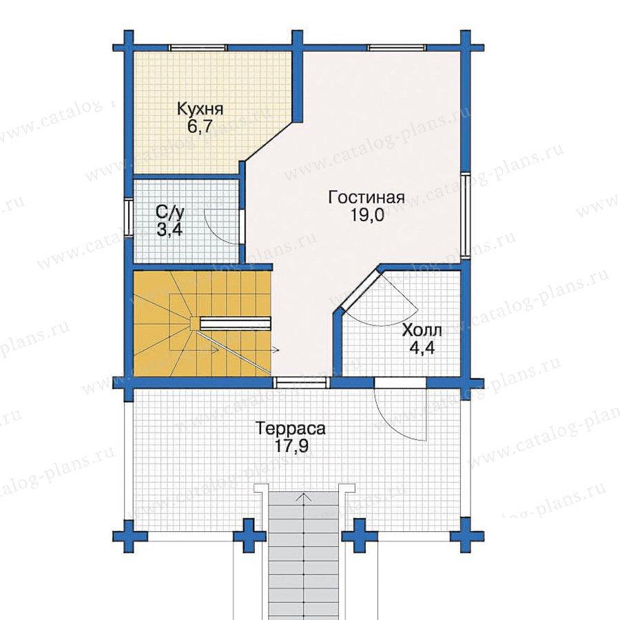 План 2-этажа проекта 10-38