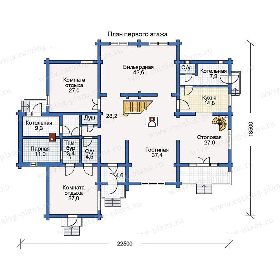 План 1-этажа проекта 10-69