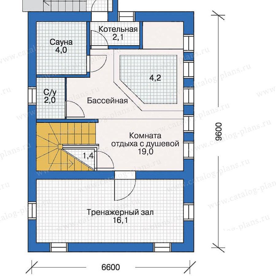 План 1-этажа проекта 10-38