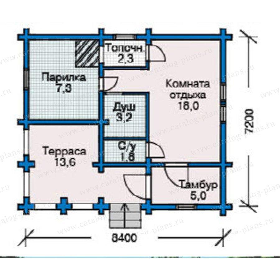 План 1-этажа проекта 10-39