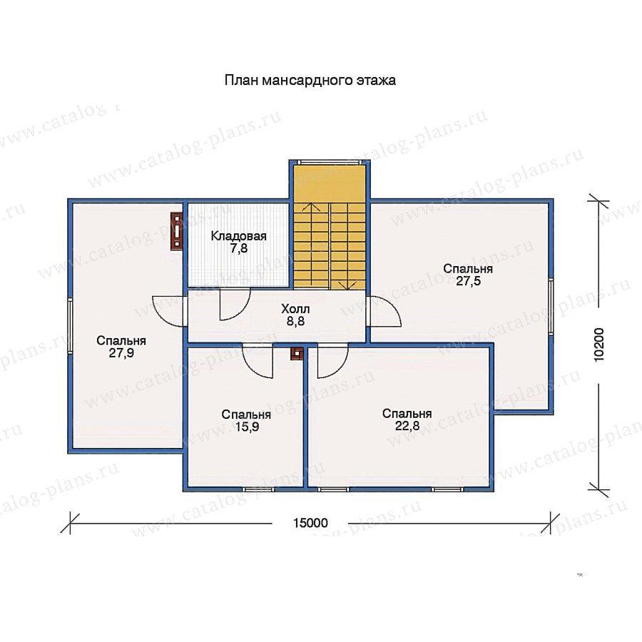 План 2-этажа проекта 10-53