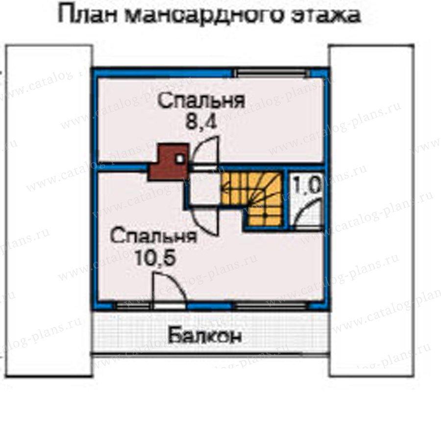 План 2-этажа проекта 10-65