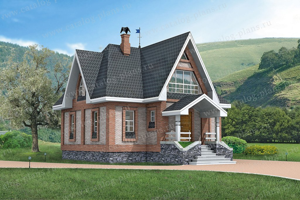 Проект жилой дом #10-35 материал - дерево, стиль английский