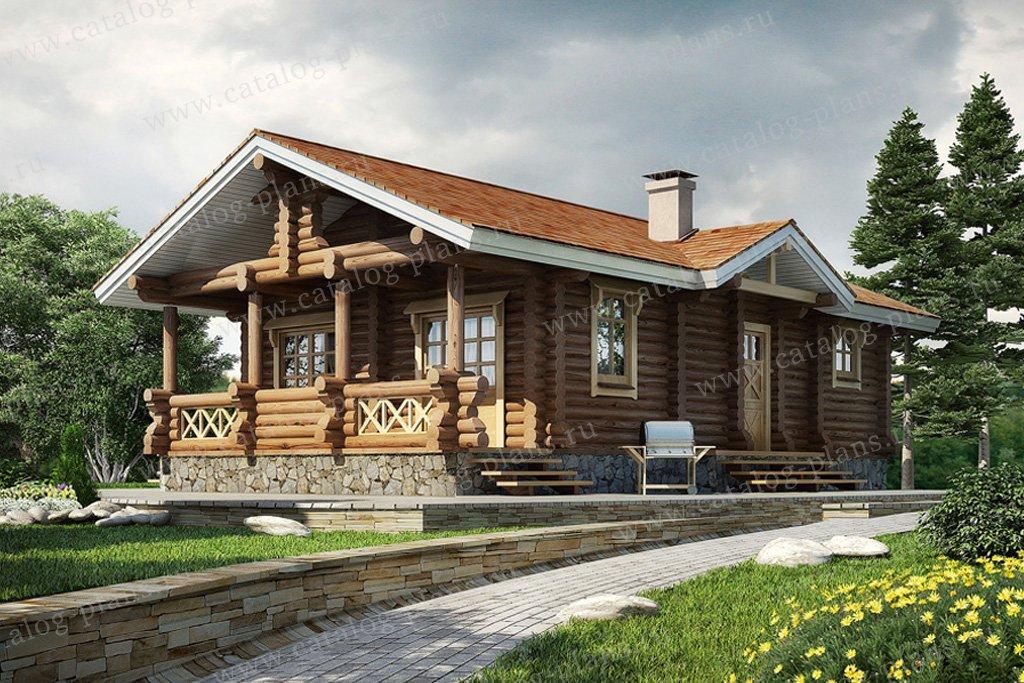 Проект жилой дом #10-45 материал - дерево, стиль шале