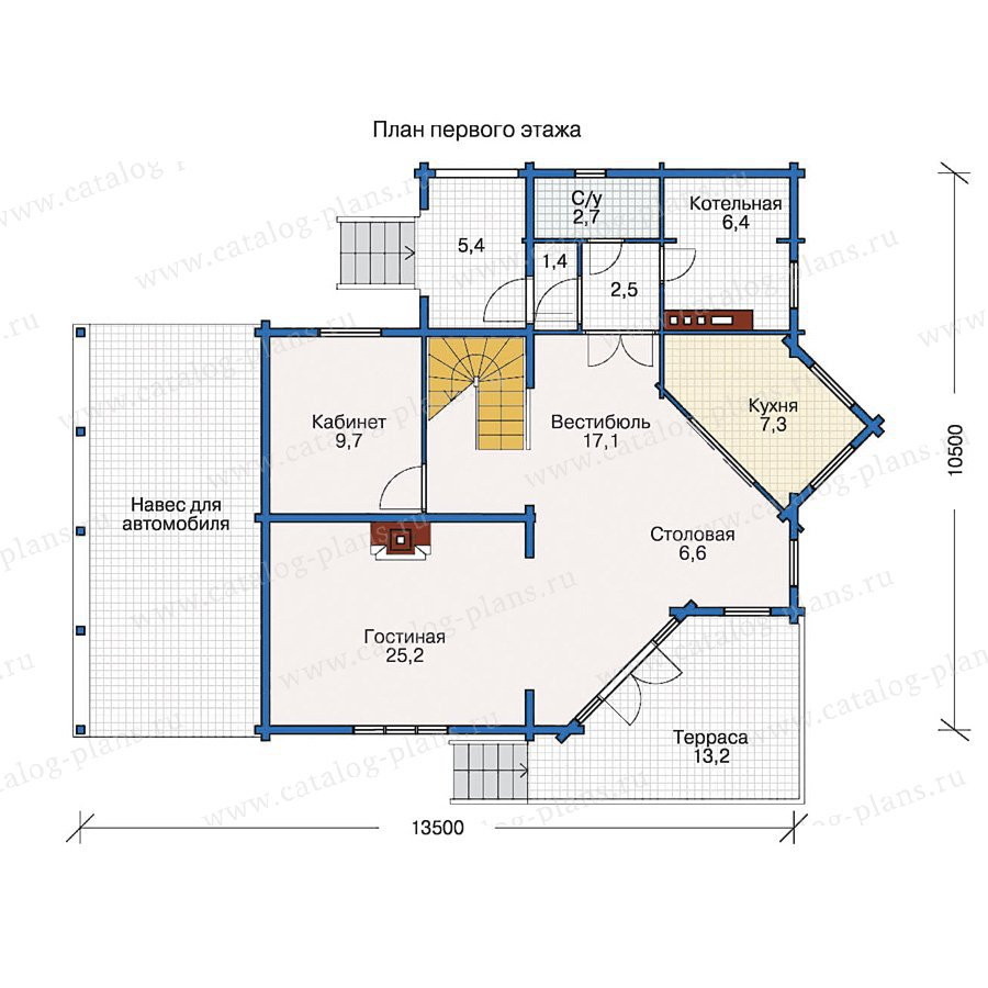 План 1-этажа проекта 10-51