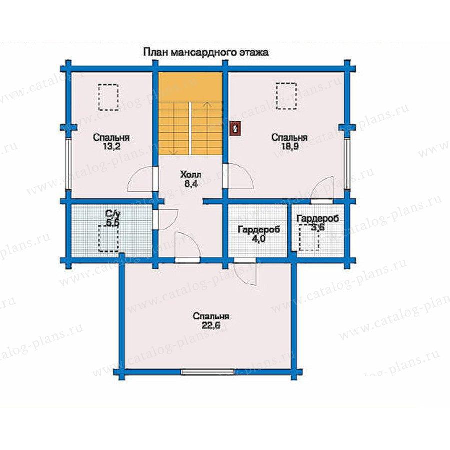 План 2-этажа проекта 10-46