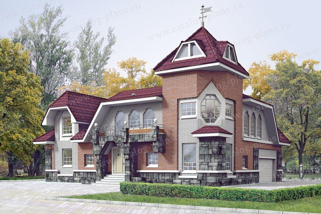 Проект жилой дом #10-36 материал - дерево, стиль средневековый