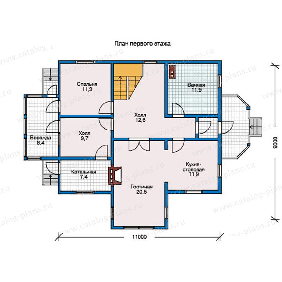 План 1-этажа проекта 10-41