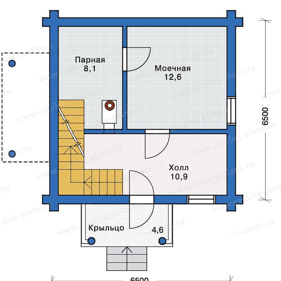 План 1-этажа проекта 10-68