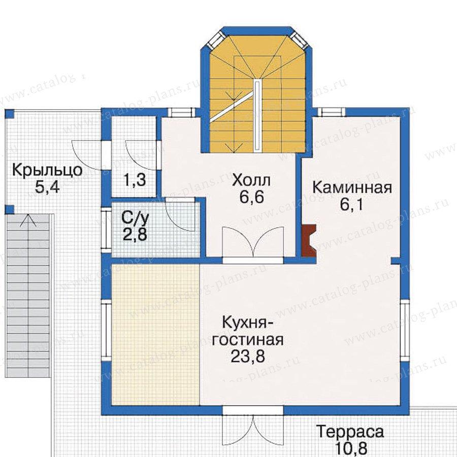 План 2-этажа проекта 10-40