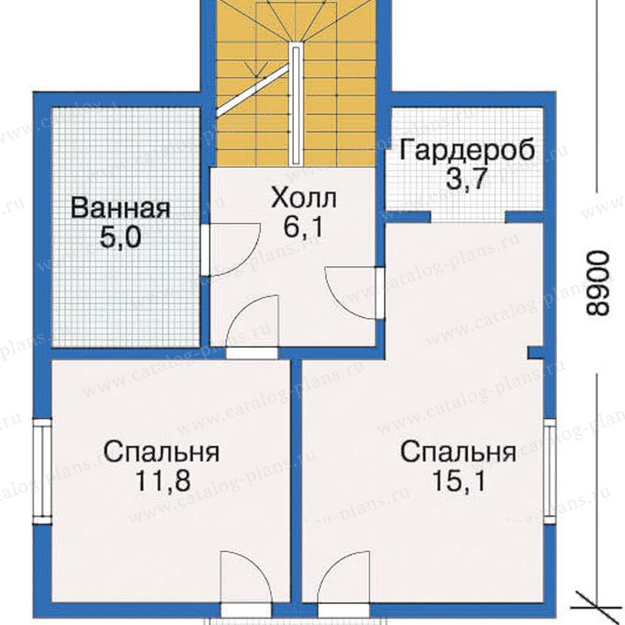 План 3-этажа проекта 10-40