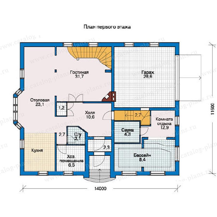 План 1-этажа проекта 10-36