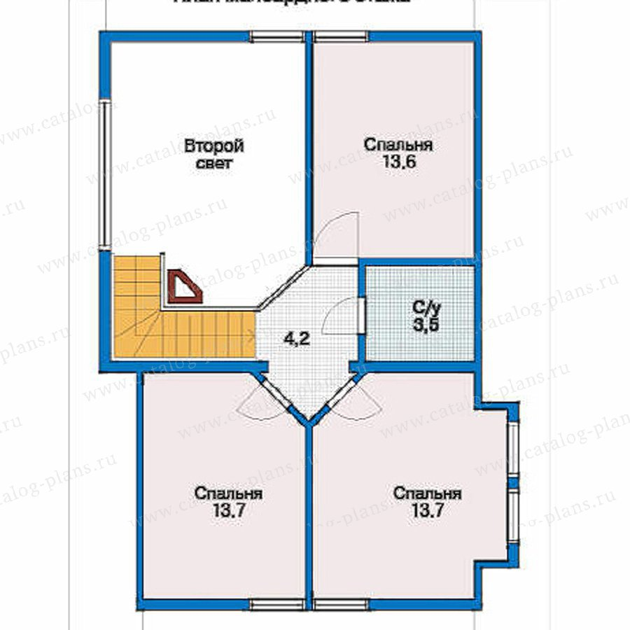 План 3-этажа проекта 10-42