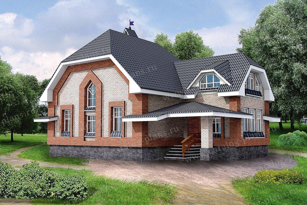 Проект жилой дом #10-37 материал - дерево, стиль европейский