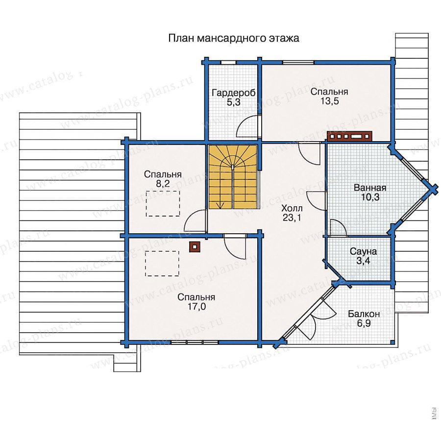 План 2-этажа проекта 10-51