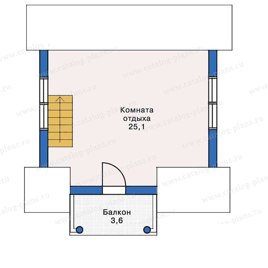 План 2-этажа проекта 10-68