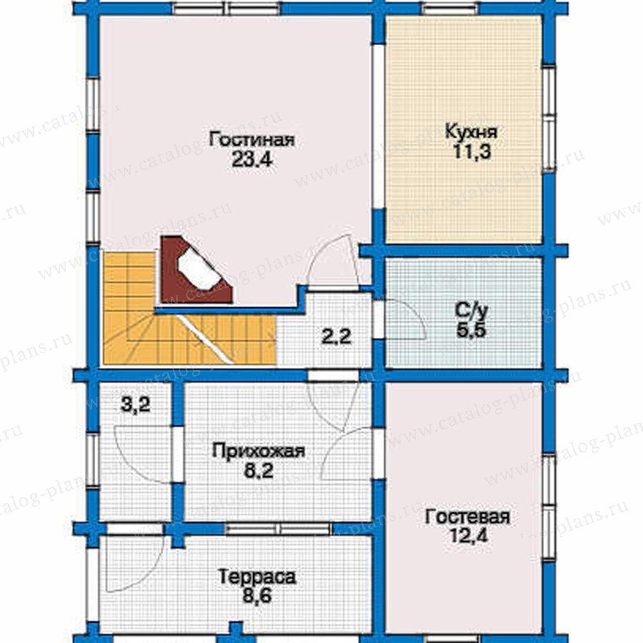 План 2-этажа проекта 10-42