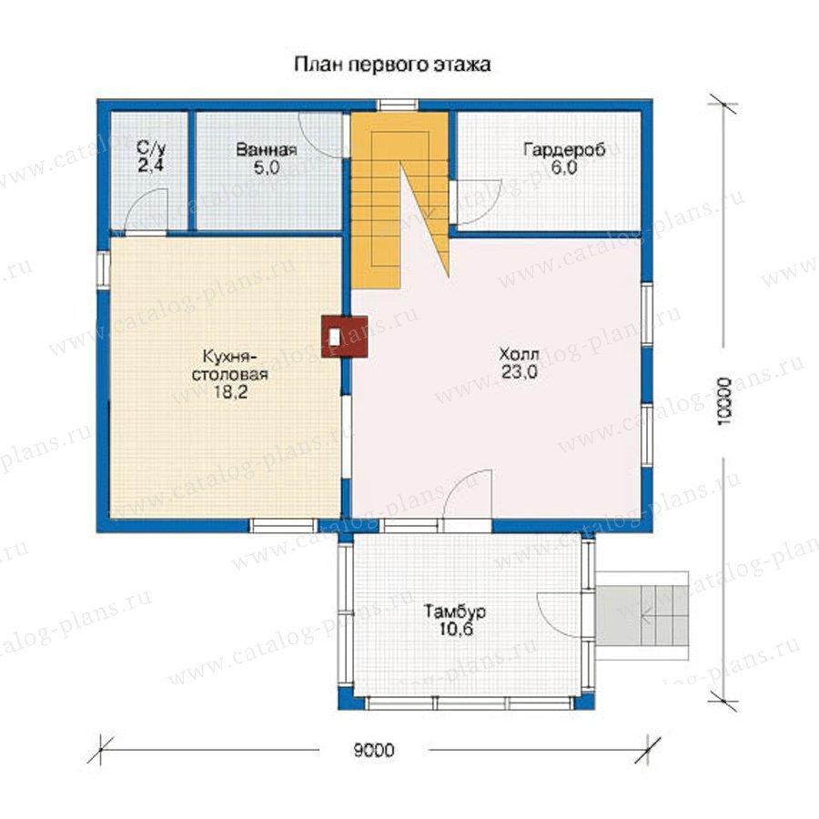 План 1-этажа проекта 10-66