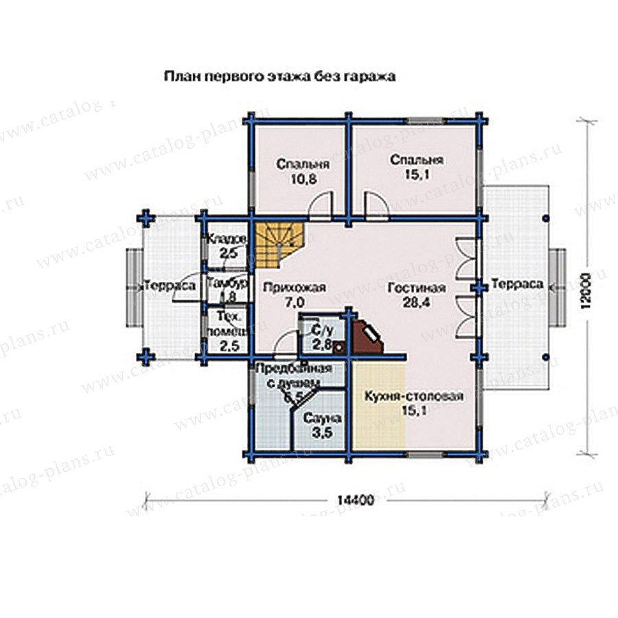План 1-этажа проекта 10-99