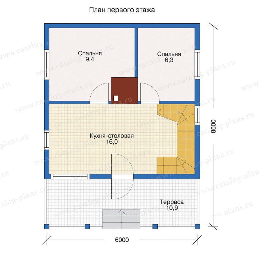 План 1-этажа проекта 10-82