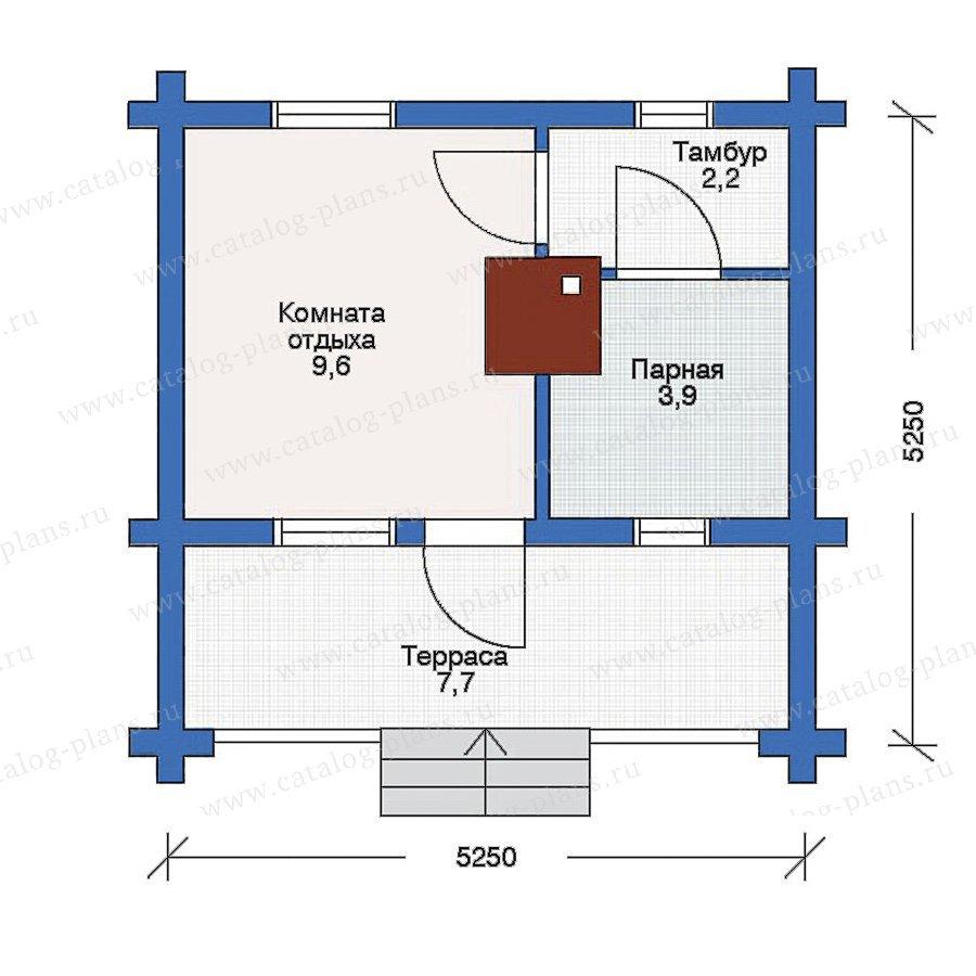 План 1-этажа проекта 10-84