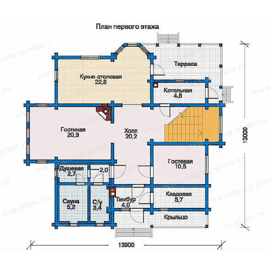 План 1-этажа проекта 10-90