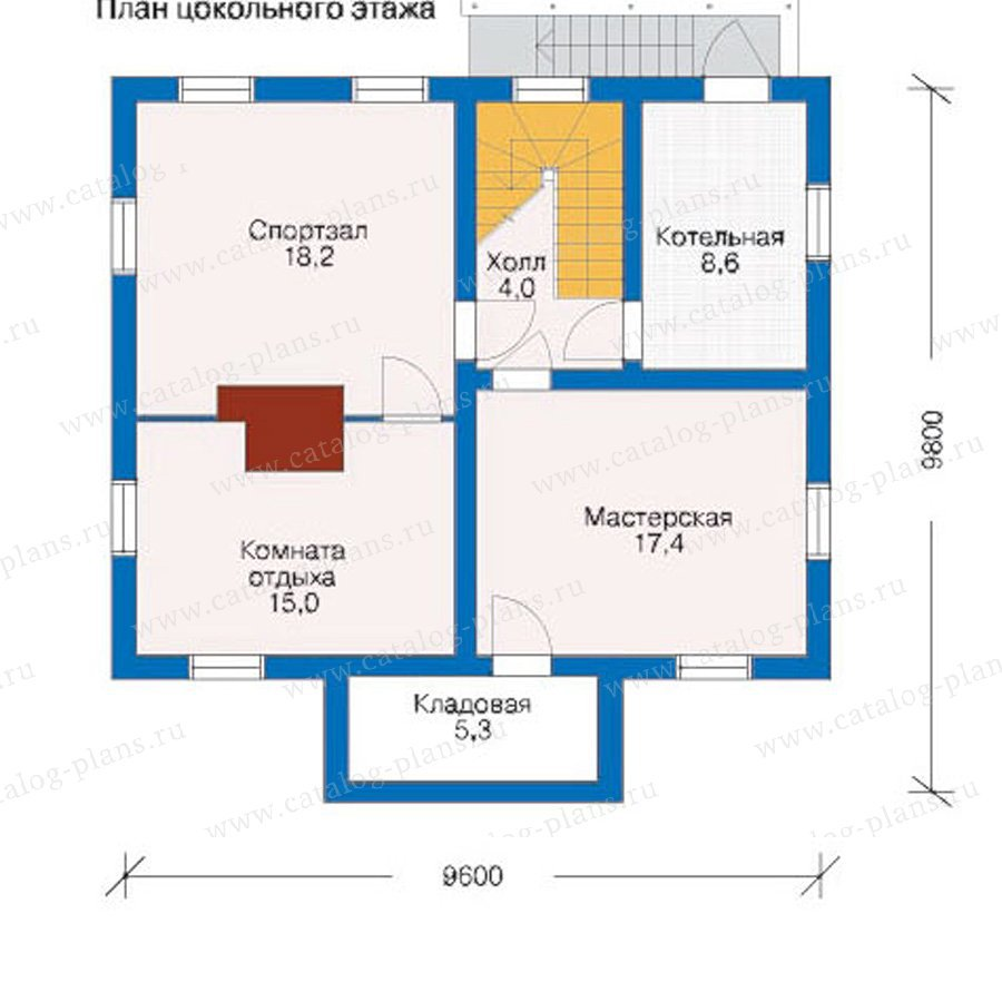 План 1-этажа проекта 10-72