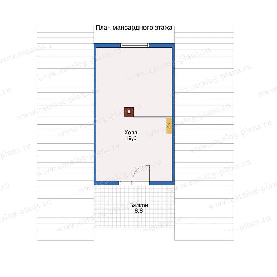 План 2-этажа проекта 10-82