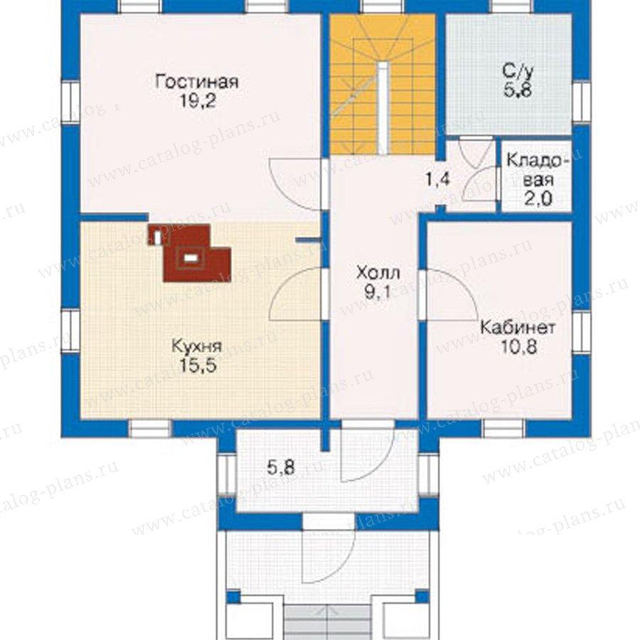 План 2-этажа проекта 10-72