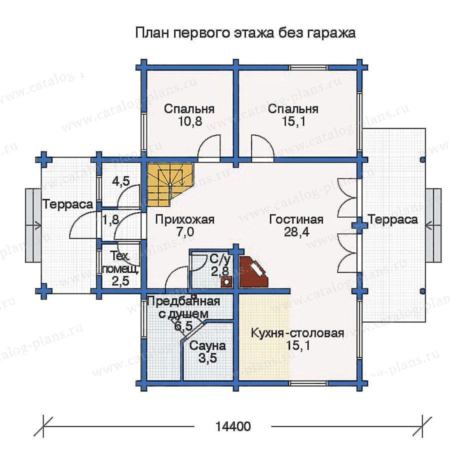 План 1-этажа проекта 10-98