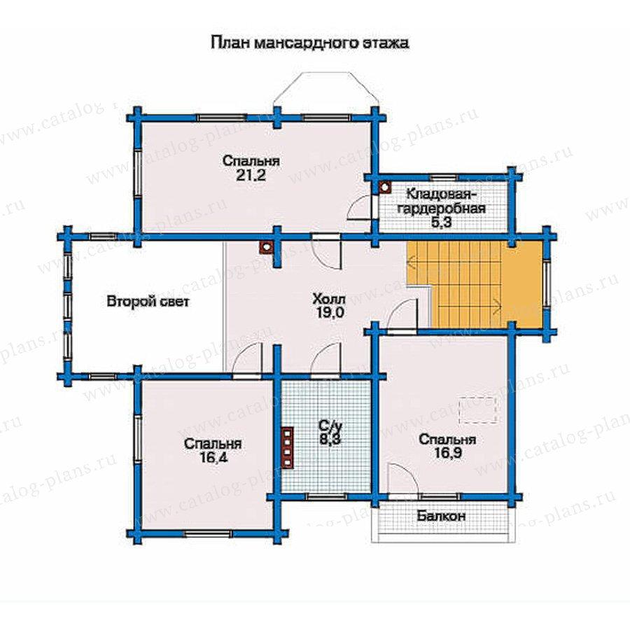 План 2-этажа проекта 10-90