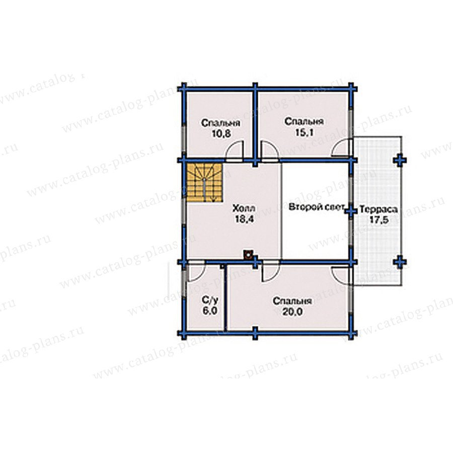 План 2-этажа проекта 10-99