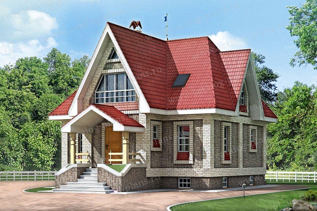 Проект жилой дом #10-72 материал - дерево, стиль английский