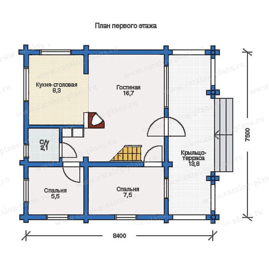 План 1-этажа проекта 10-76