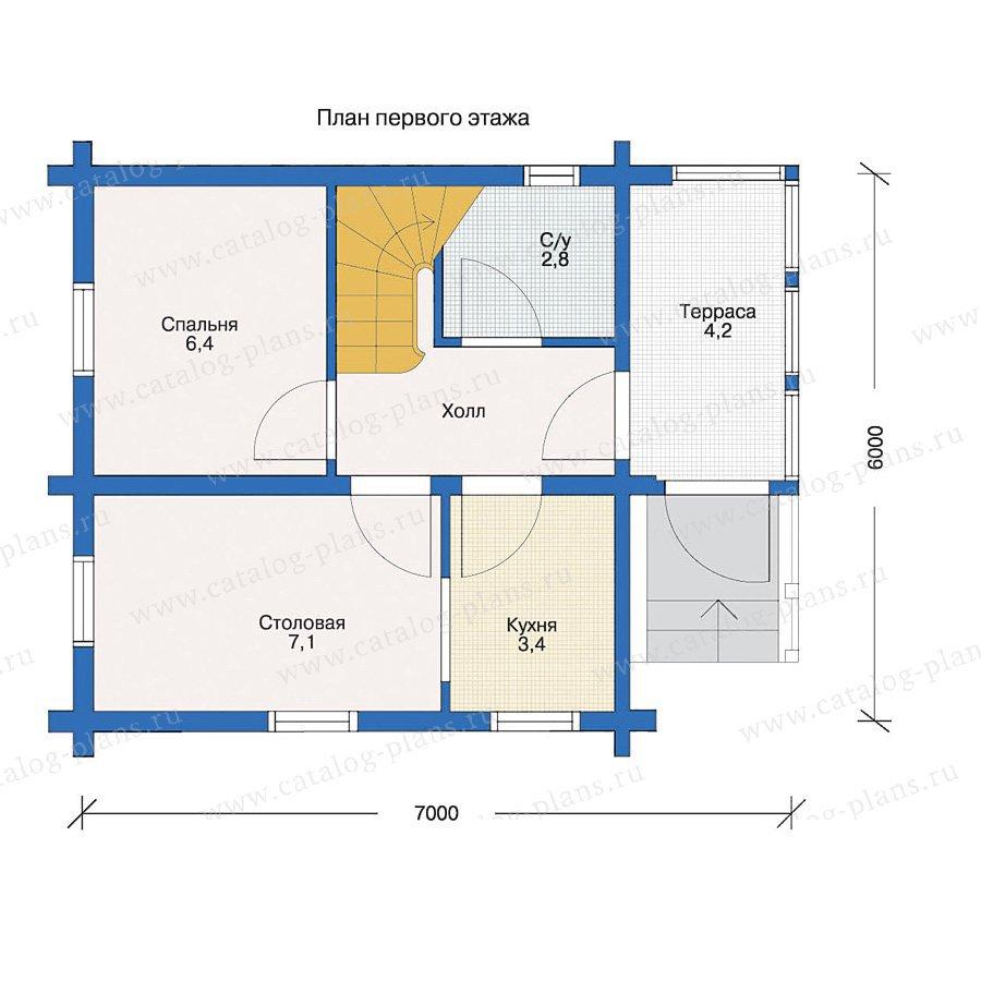 План 1-этажа проекта 10-85