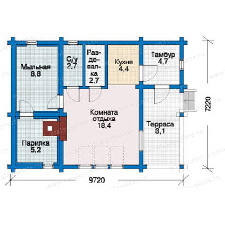 План 1-этажа проекта 10-89