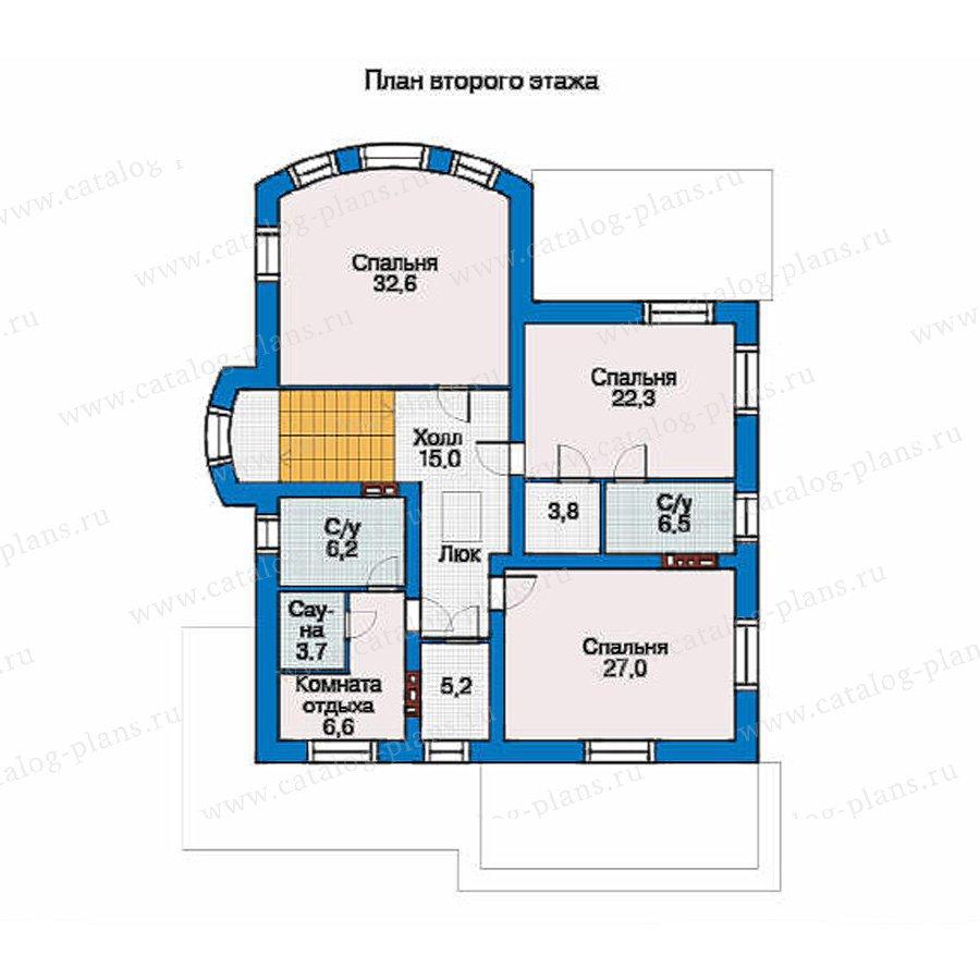 План 2-этажа проекта 34-55