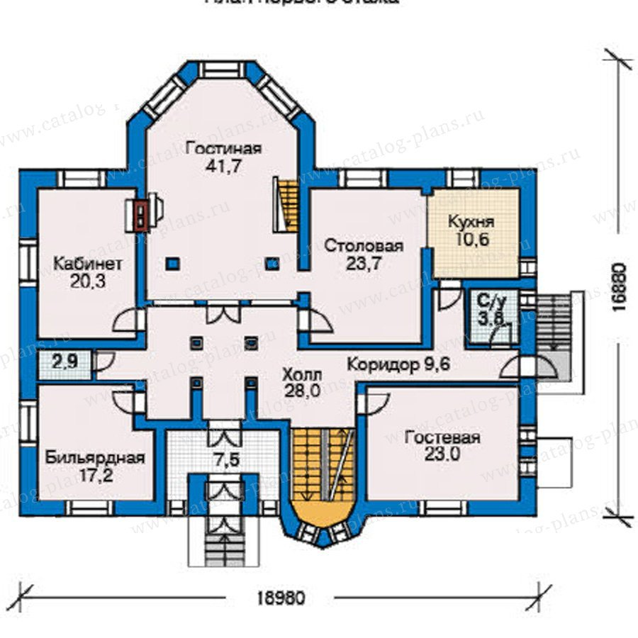 План 2-этажа проекта 31-36