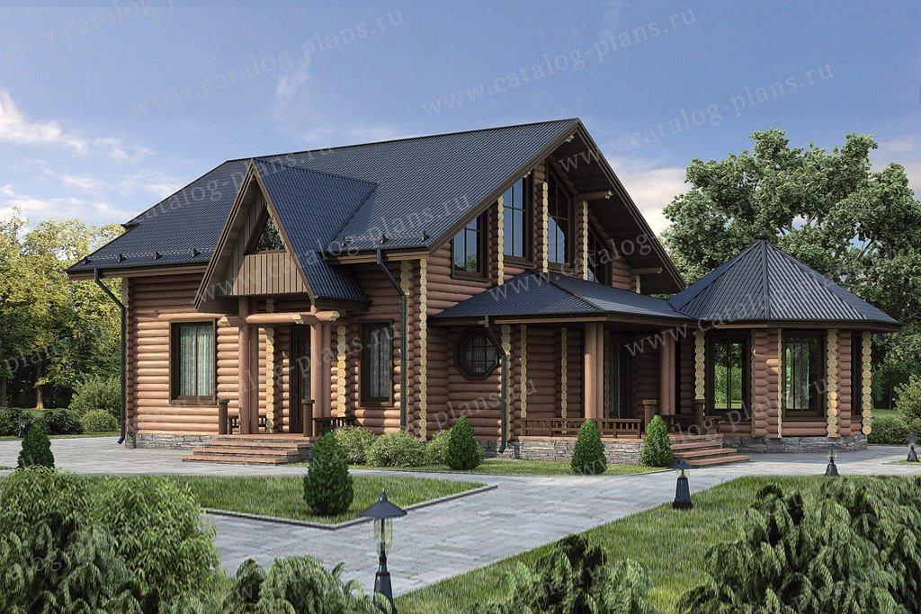 Проект жилой дом #12-07 материал - дерево, стиль европейский